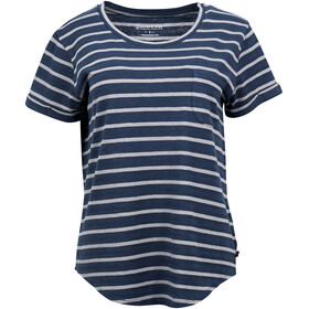 United By Blue Standard Striped SS Pocket Tee Women orion blue